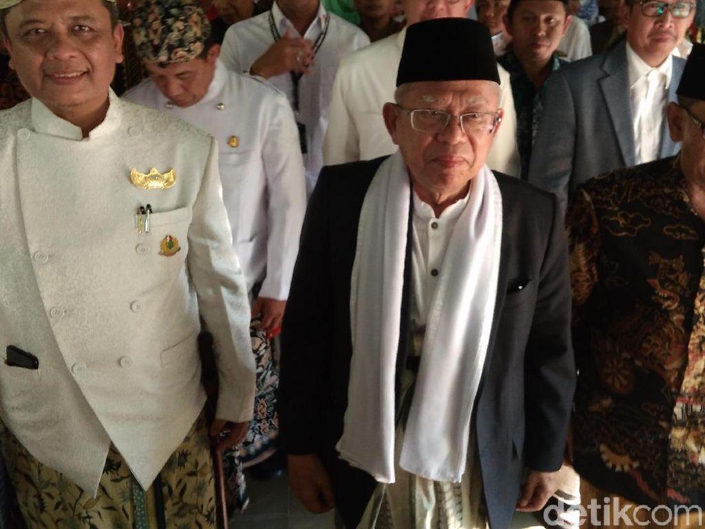 Sambangi Cirebon, Maruf Amin Bicara Peran Santri dan Jokowi