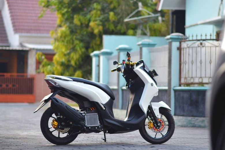 Modifikasi Yamaha Lexi buat Emak Belanja ke Pasar. Foto: Dok. Ian Juno