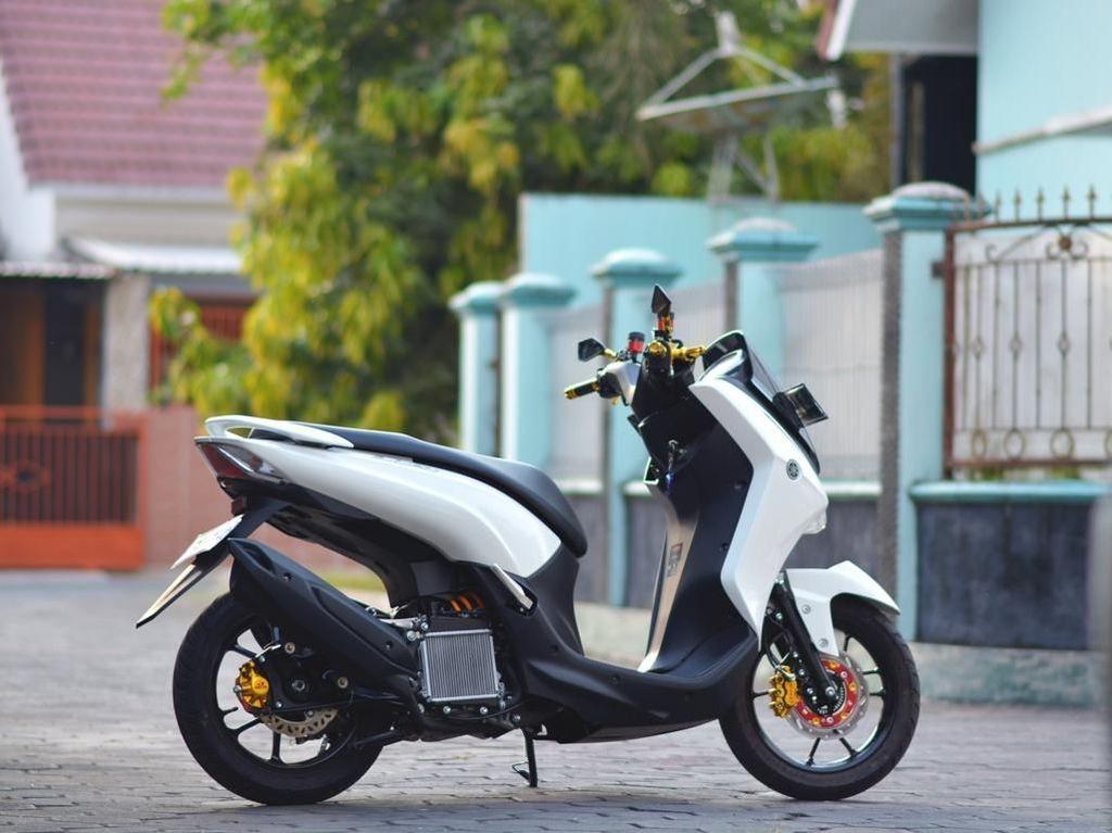 Modifikasi Yamaha Lexi buat Emak Belanja ke Pasar
