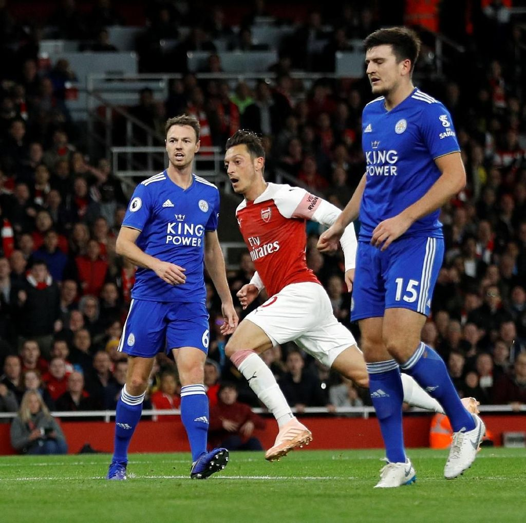Arsenal Vs Leicester Imbang 1-1 di Babak Pertama