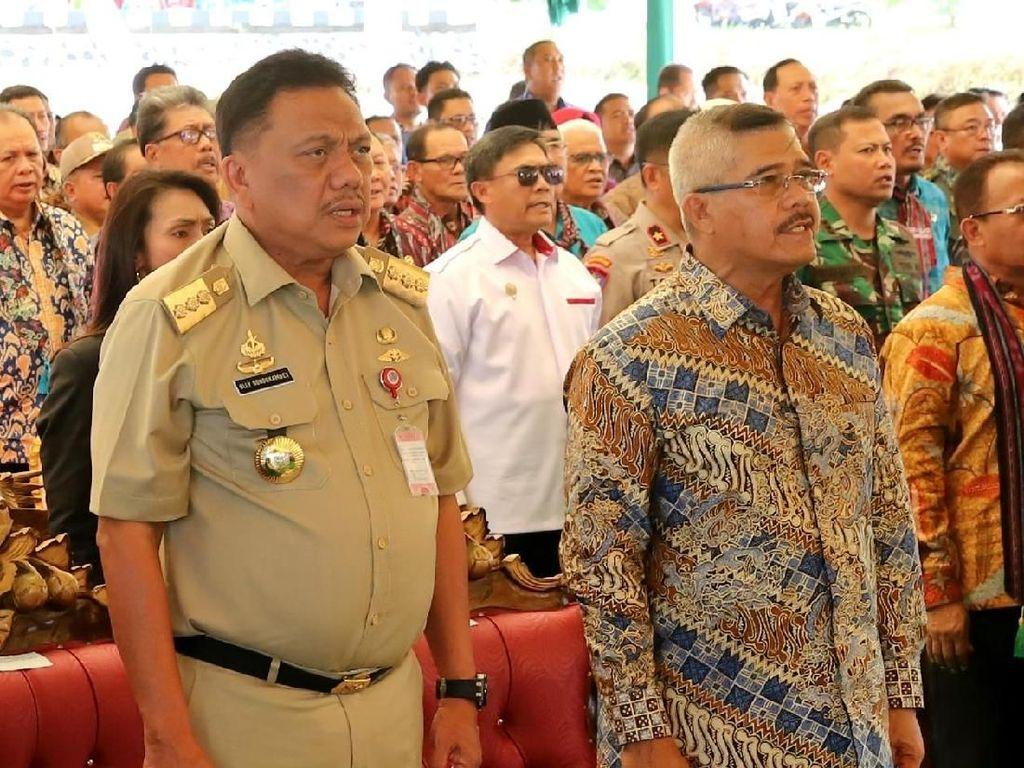 Gubernur Olly Dampingi Ketua MA Resmikan 85 Pengadilan Baru