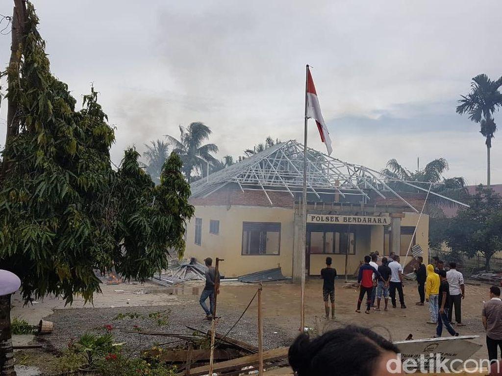 Polsek di Aceh Dibakar, Keluarga Minta Tewasnya Bandar Sabu Diusut