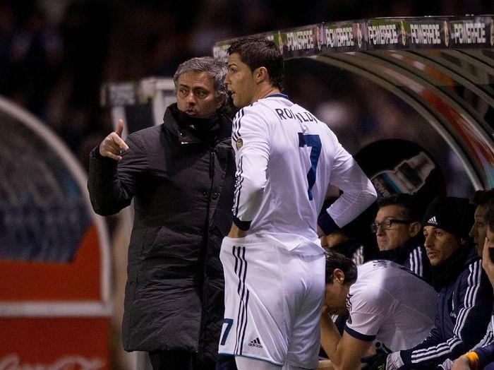 Jose Mourinho dan Cristiano Ronaldo akan berhadapan malam nanti (Gonzalo Arroyo Moreno/Getty Images)