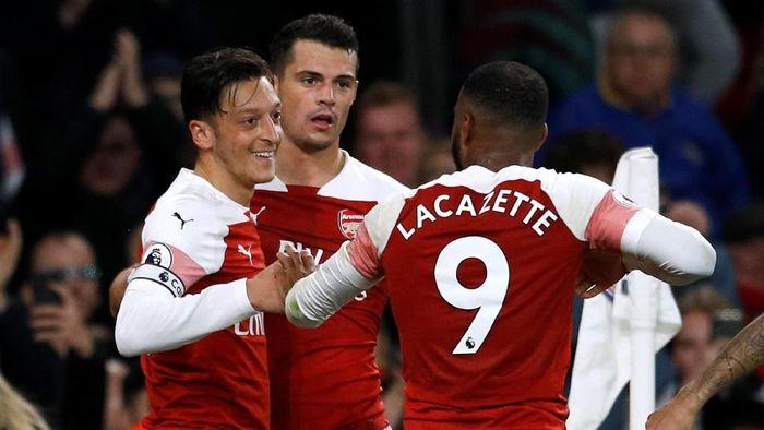 Arsenal dalam tren positif usai 10 kemenangan beruntun di seluruh kompetisi (Peter Nicholls/Reuters)