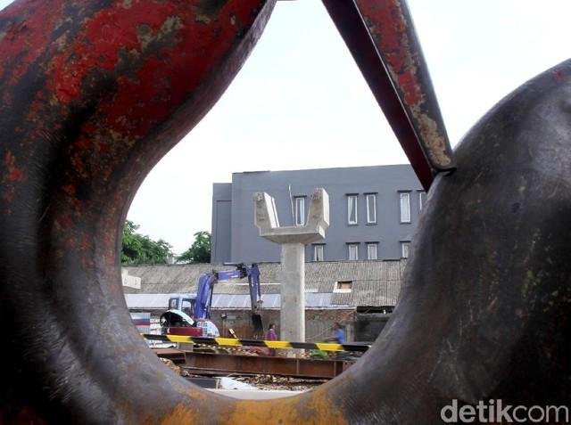 Penampakan Proyek Pembangunan JPO Baru Tubagus Angke