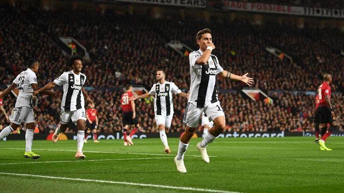 Paulo Dybala menangkan Juventus atas Manchester United 1-0. (Foto: Michael Regan/Getty Images)