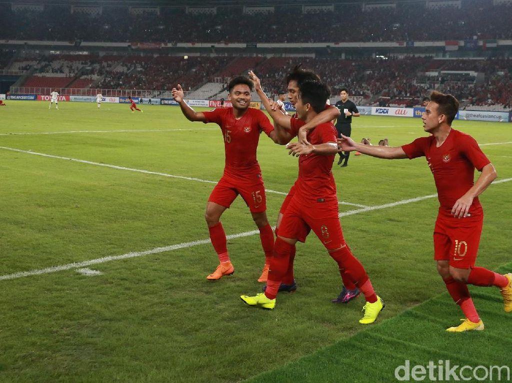 10 Pemain Indonesia Kalahkan UEA 1-0