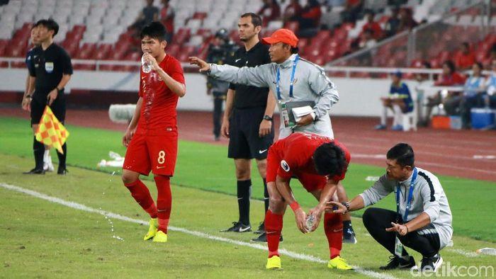 Timnas U-19 akan berjumpa Jepang di perempatfinal Piala Asia, akhir pekan ini. (Foto: Ari Saputra)