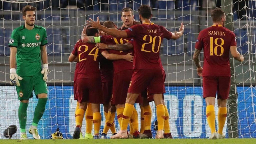 Hasil Roma vs CSKA: Dzeko Dua Gol, Giallorossi Menang 3-0