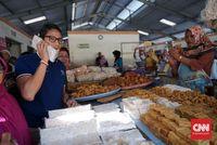 Ma'ruf Kunjungi Pesantren, Sandiaga ke Pasar Prambanan
