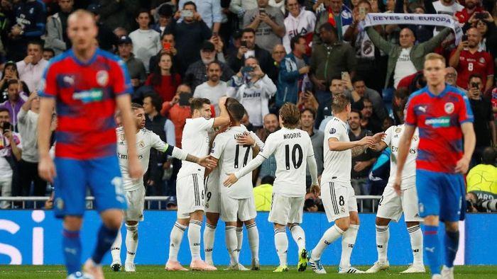 Real Madrid mengakhiri tren negatifnya dengan mengalahkan Viktoria Plzen di Liga Champions (Foto: Paul Hanna/Reuters)