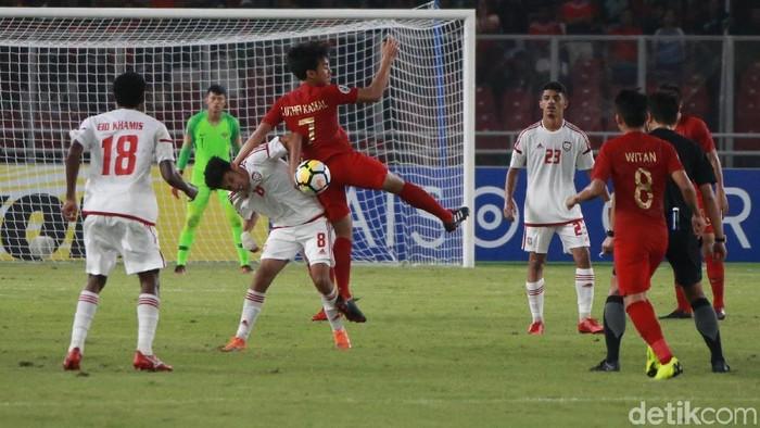 Timnas Indonesia saat menaklukkan Uni Emirat Arab di Piala Asia U-19 2019. (Foto: Ari Saputra/detikcom)