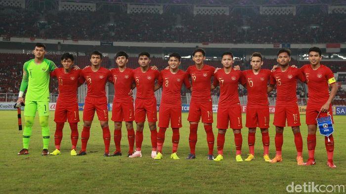 Timnas Indonesia U-19 di Piala Asia U-19 2018. (Foto: Ari Saputra/detikcom)