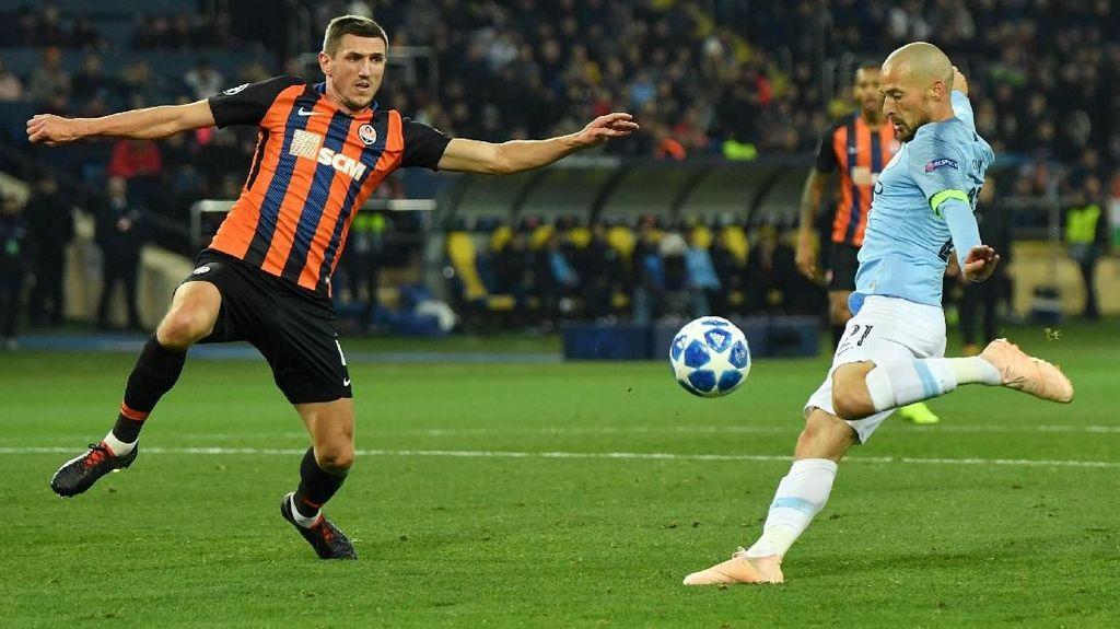 City Memimpin 2-0 atas Shakhtar di Babak Pertama