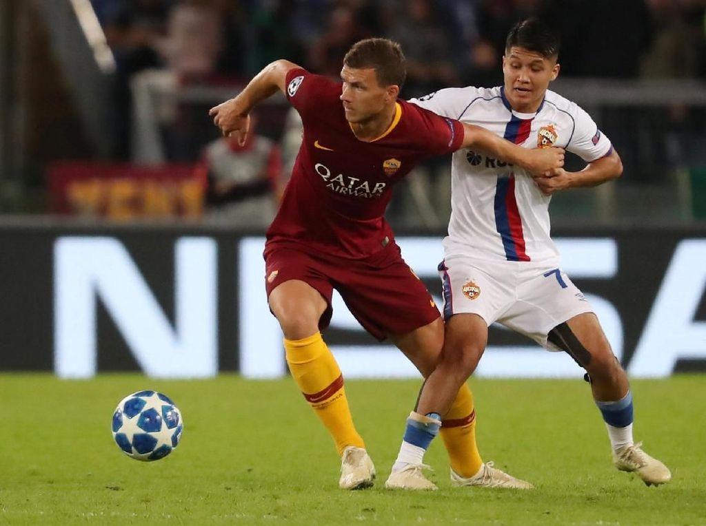 Dzeko Pede Roma Melaju Jauh di Liga Champions Musim Ini