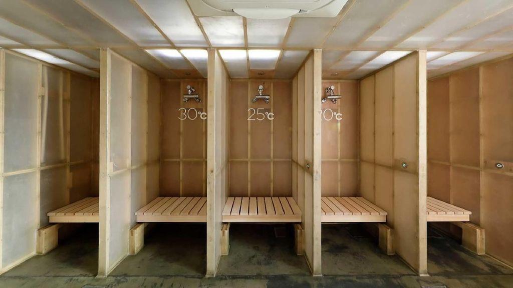 Foto: Keren, Hotel Kapsul di Jepang Ada Fasilitas Sauna