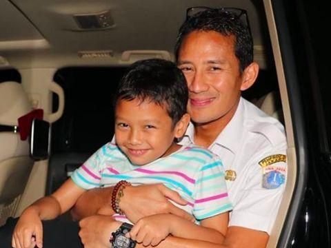 Sandiaga dan sang anak, Sulaiman/