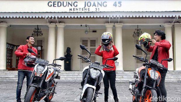 Riders KTM Road Warriors 2018 di Gedung Joeang 45