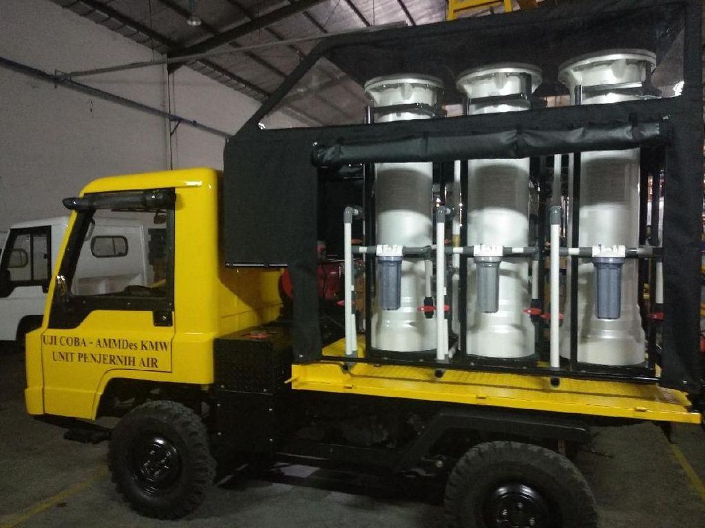 Bantu Korban Gempa, Mobil Desa Penjernih Air Dikirim ke Sulteng