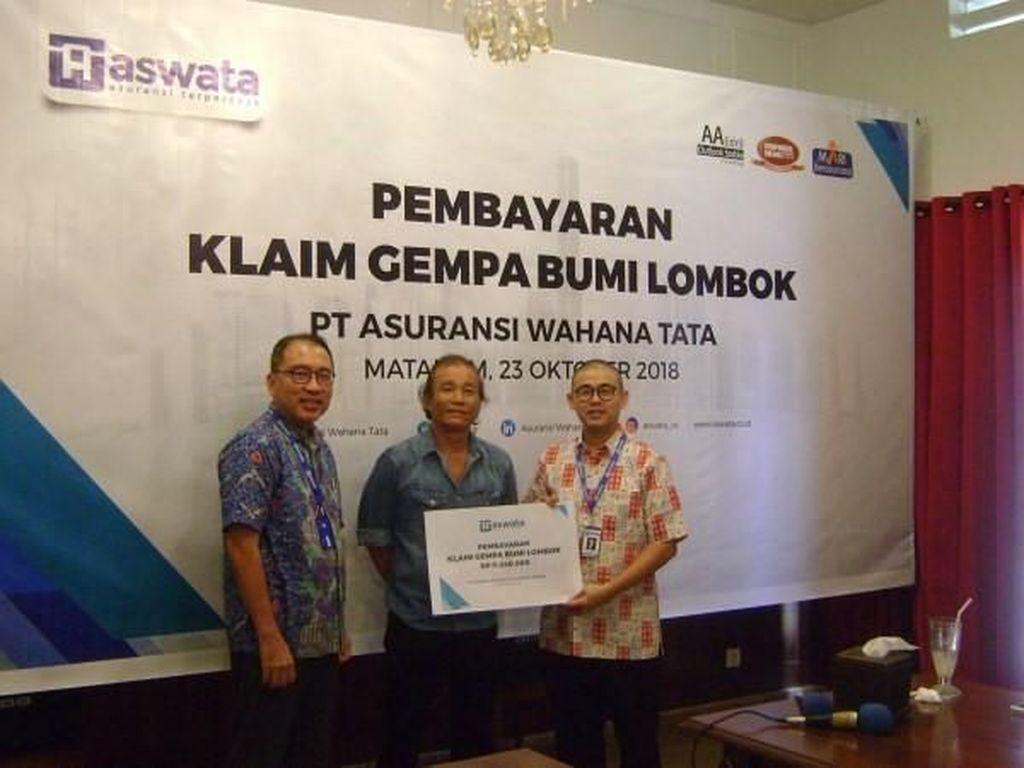 Aswata Cairkan Klaim untuk Korban Gempa Lombok