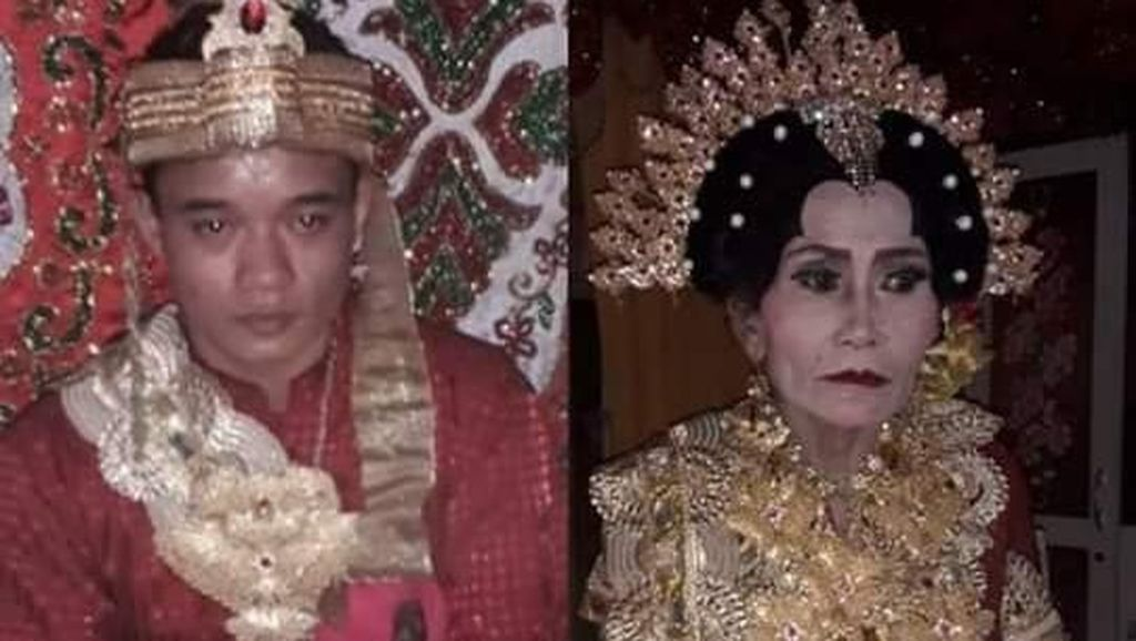 Momen Pernikahan Pria Lajang 25 Tahun dan Wanita 65 Tahun di Sulsel