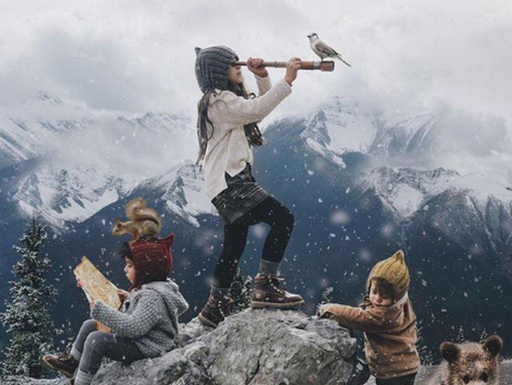Keren, Orang Tua Kreatif Sulap Foto Keluarga Jadi Ciamik