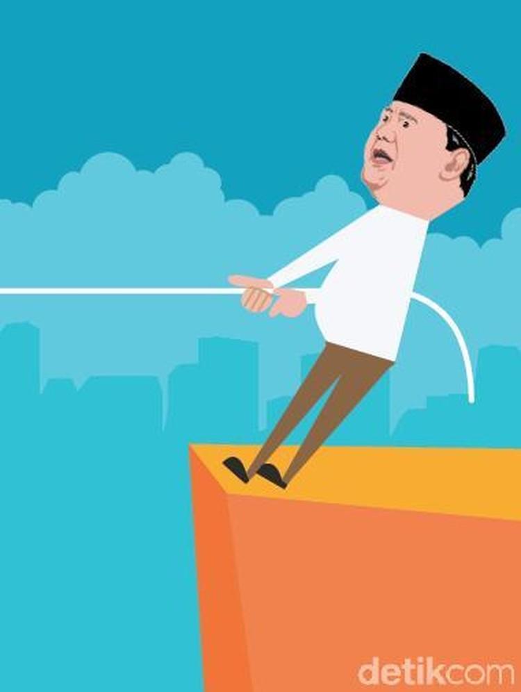 Naik-Turun Elektabilitas Jokowi vs Prabowo