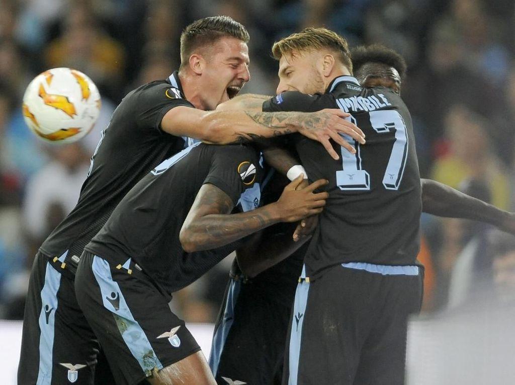 Hasil Liga Europa: Lazio Bungkam Marseille 3-1