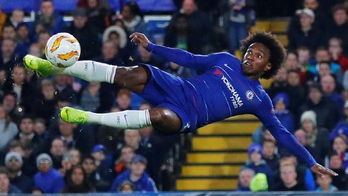 Chelsea kabarnya menolak tawaran Barcelona untuk Willian. (Foto: Eddie Keogh/Reuters)