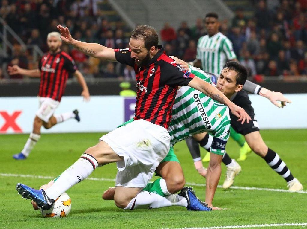 Hasil AC Milan vs Real Betis: Rossoneri Kalah 1-2