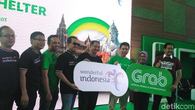 Suasana peluncuran kerjasama co-branding Grab dan Kemenpar (Wahyu/detikTravel)