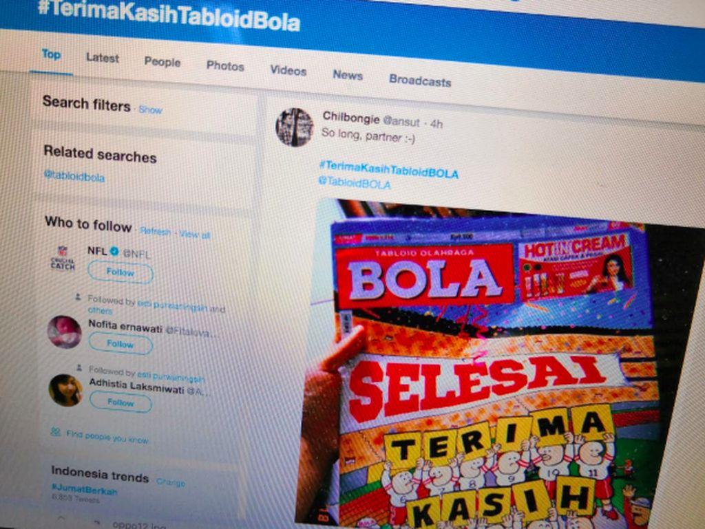 Tabloid Bola Resmi Tamat, Netizen Berduka