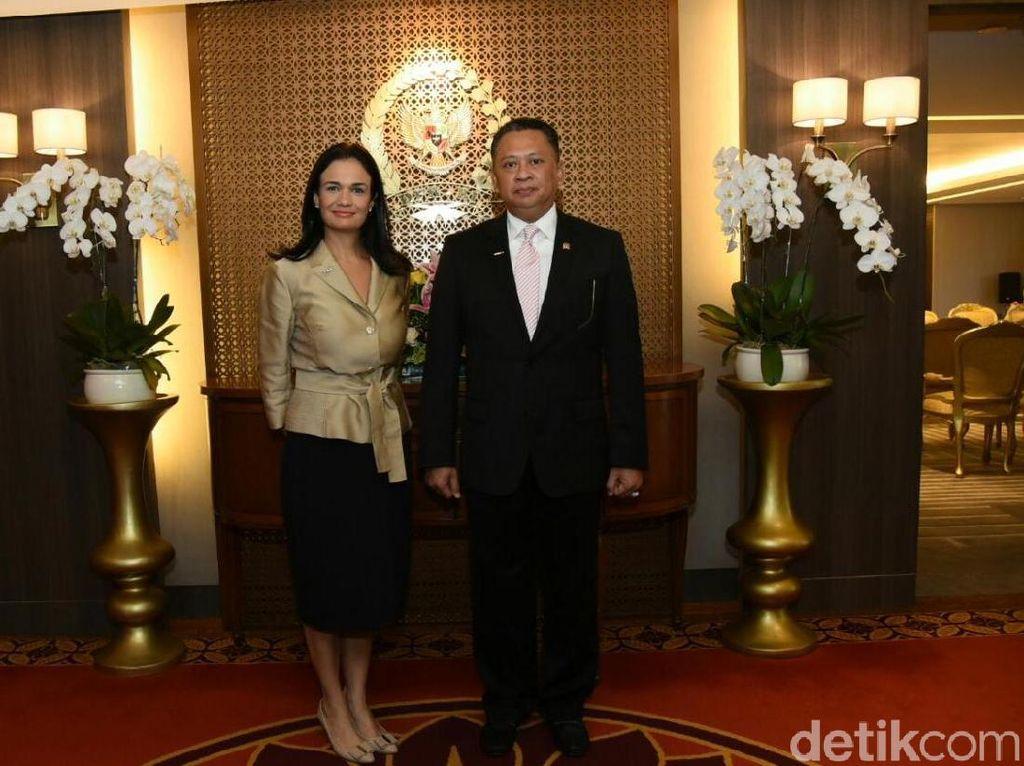 Ketua DPR Bertemu Wapres Panama Bahas Panama Paper