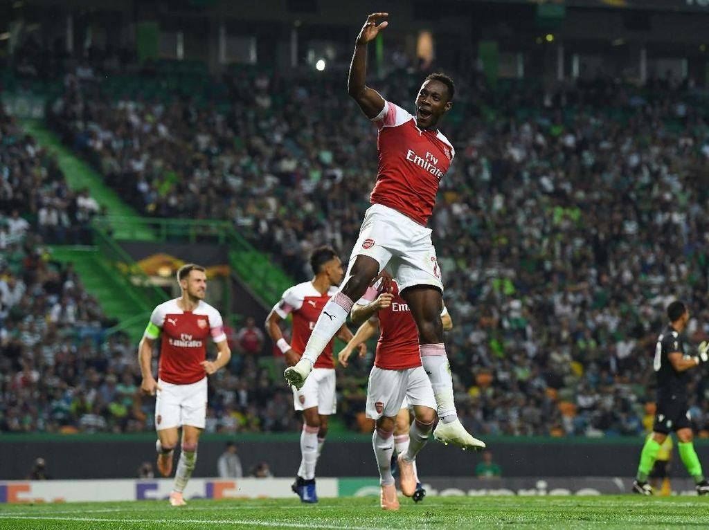 Hasil Liga Europa: Gol Tunggal Welbeck Menangkan Arsenal atas Sporting