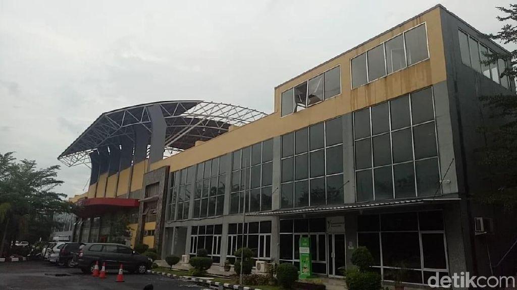 Bukan Cuma Plafon LRT, Venue Jakabaring juga Rusak Diterjang Angin