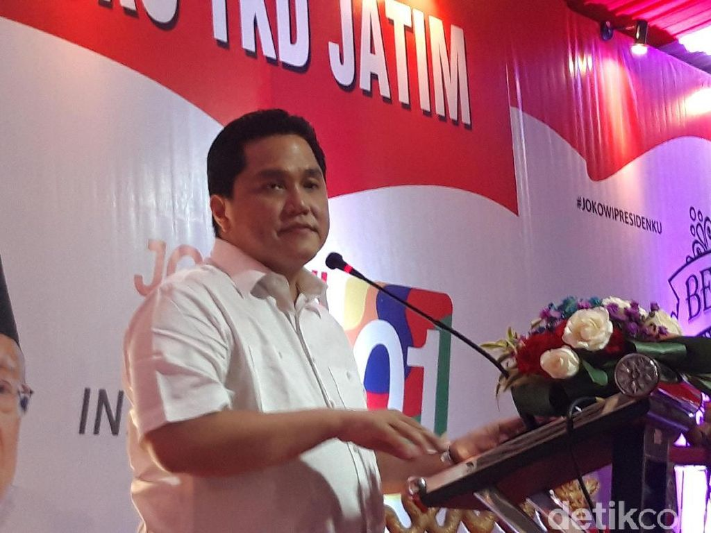 Pesan Erick ke Relawan Jokowi: Militan dan Kompak