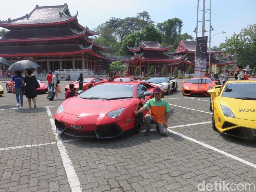 Pawai Puluhan Lamborghini Curi Perhatian Warga Semarang