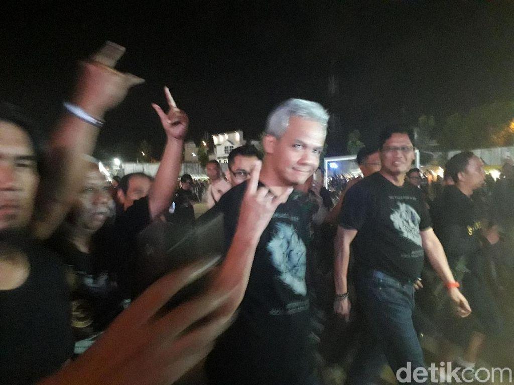 Ganjar Pranowo Tonton Megadeth: Pokoke Metal!