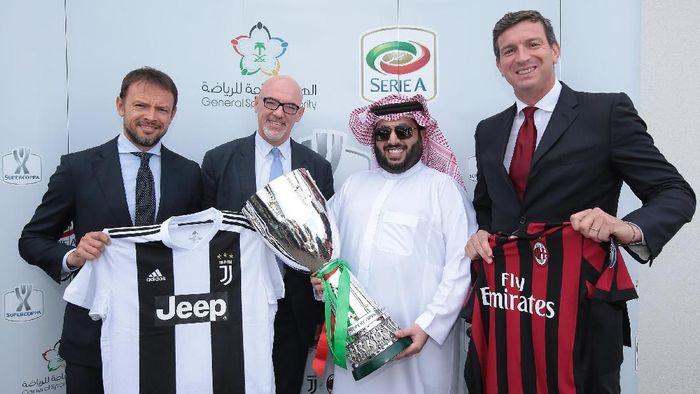 Pemerintah Arab Saudi meneken kerja sama dengan Liga Italia beberapa waktu lalu. (Foto: Emilio Andreoli/Getty Images)