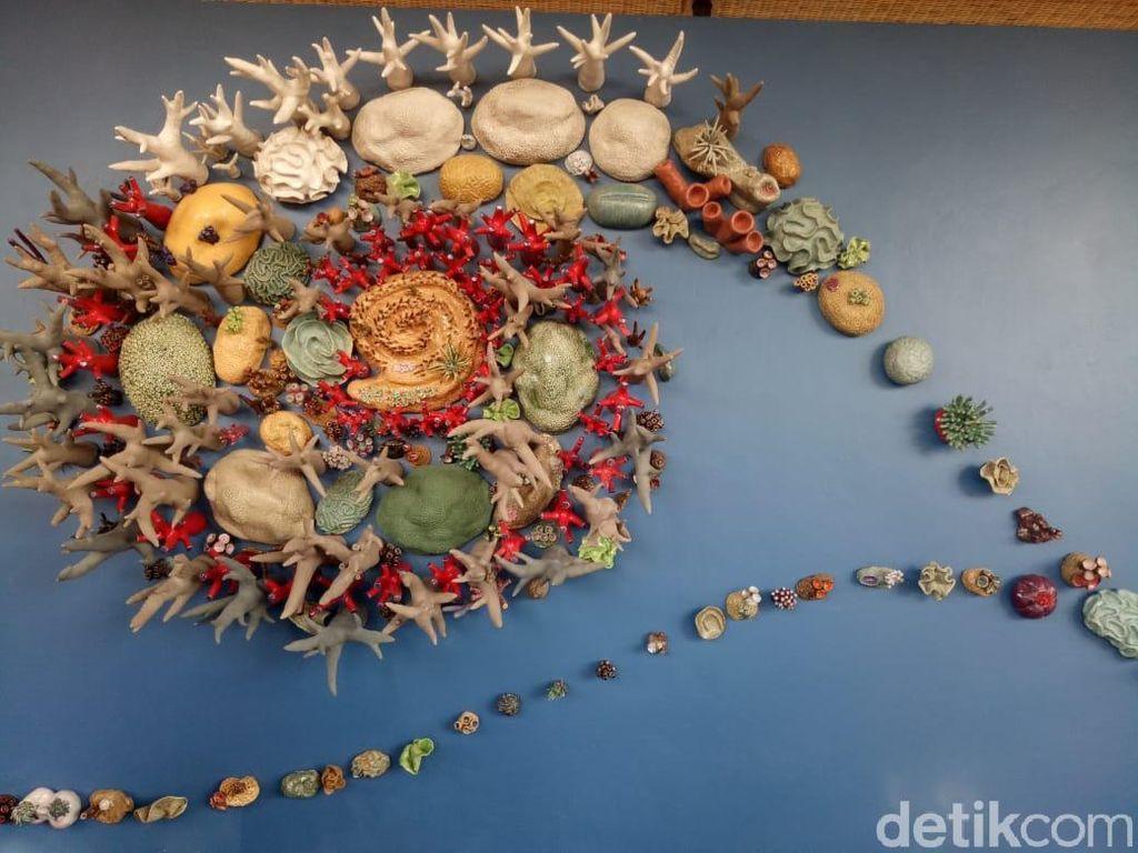 Foto: Kerennya Instalasi Semesta Terumbu Karang di Bali