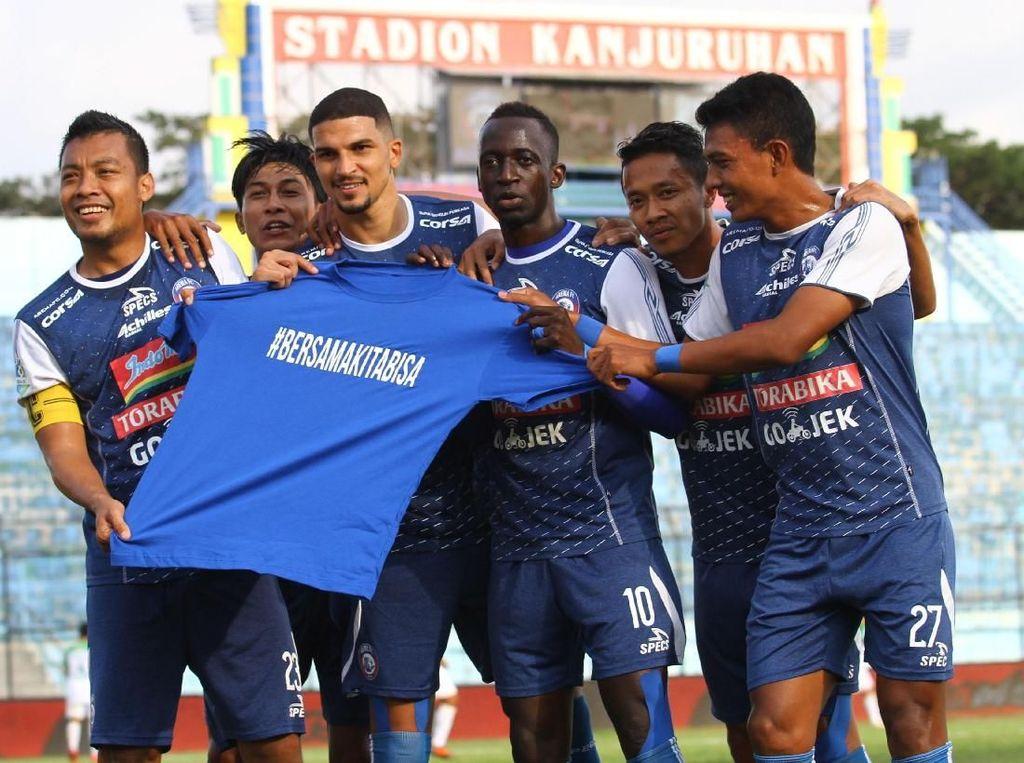 Hasil Liga 1 2018: Arema FC Bantai PSMS Medan 5-0