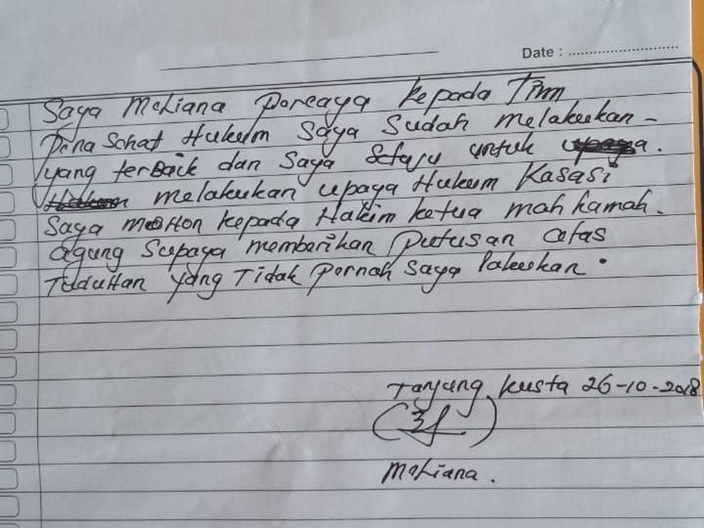 Jeritan Meliana dari Balik Penjara
