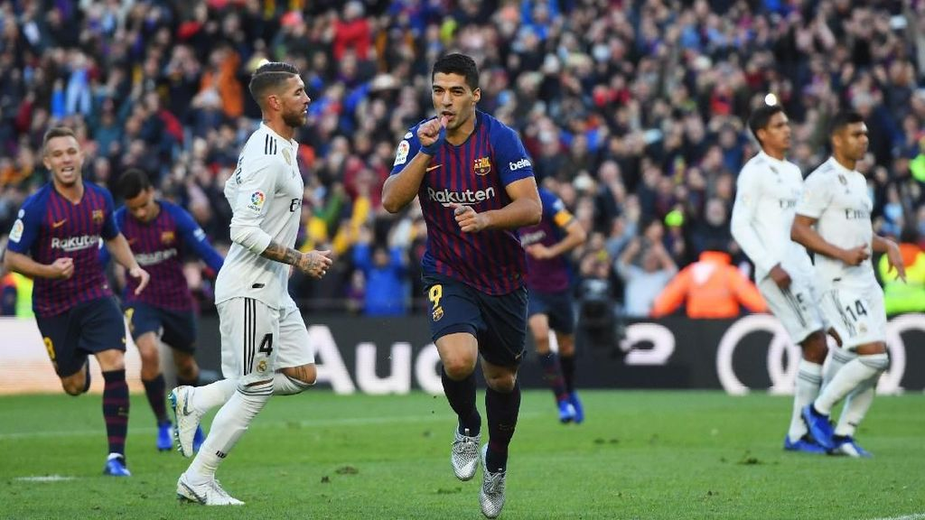 Video Gelontoran Gol Barcelona yang Melumat Madrid