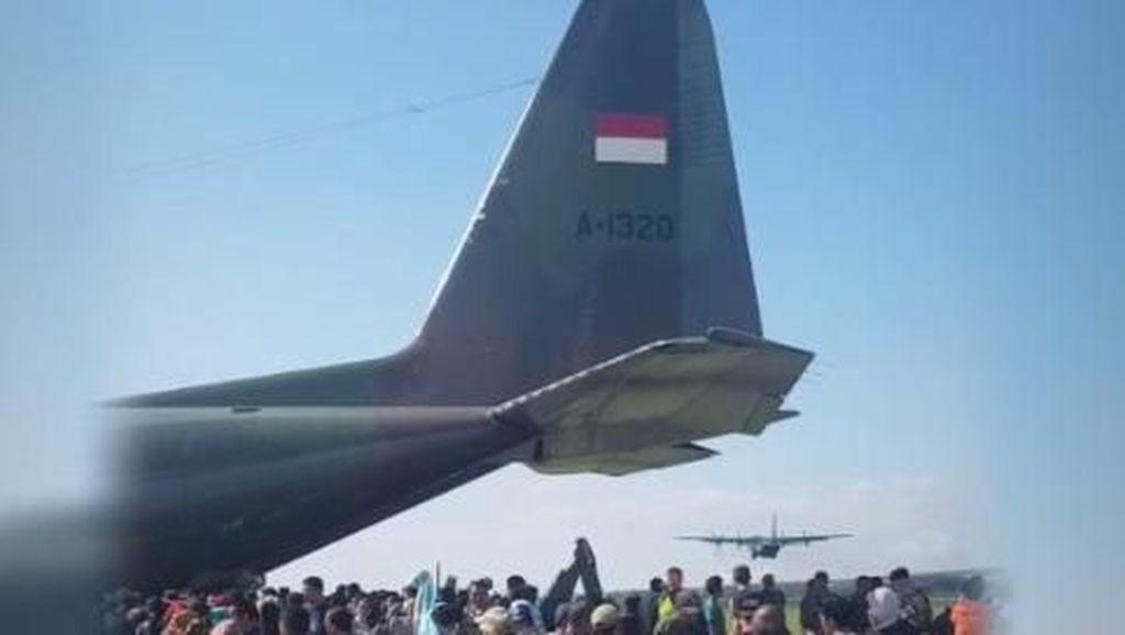 Kisah Menegangkan Penerbang Hercules Pertama Landing Pasca Gempa Palu
