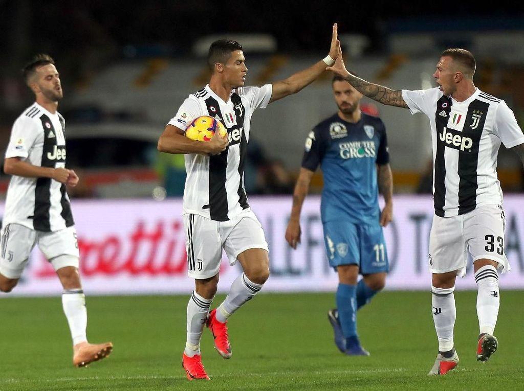 Hasil Empoli vs Juventus: Dua Gol Ronaldo Menangkan Bianconeri