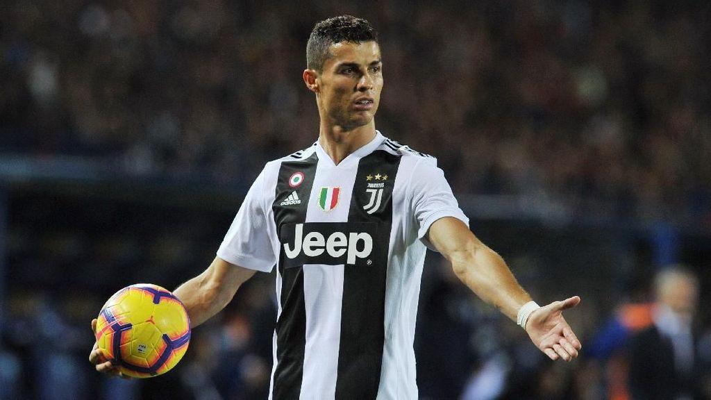 Tentang Cat Merah di Pipi Ronaldo dkk Pada Liga Italia Pekan Ini
