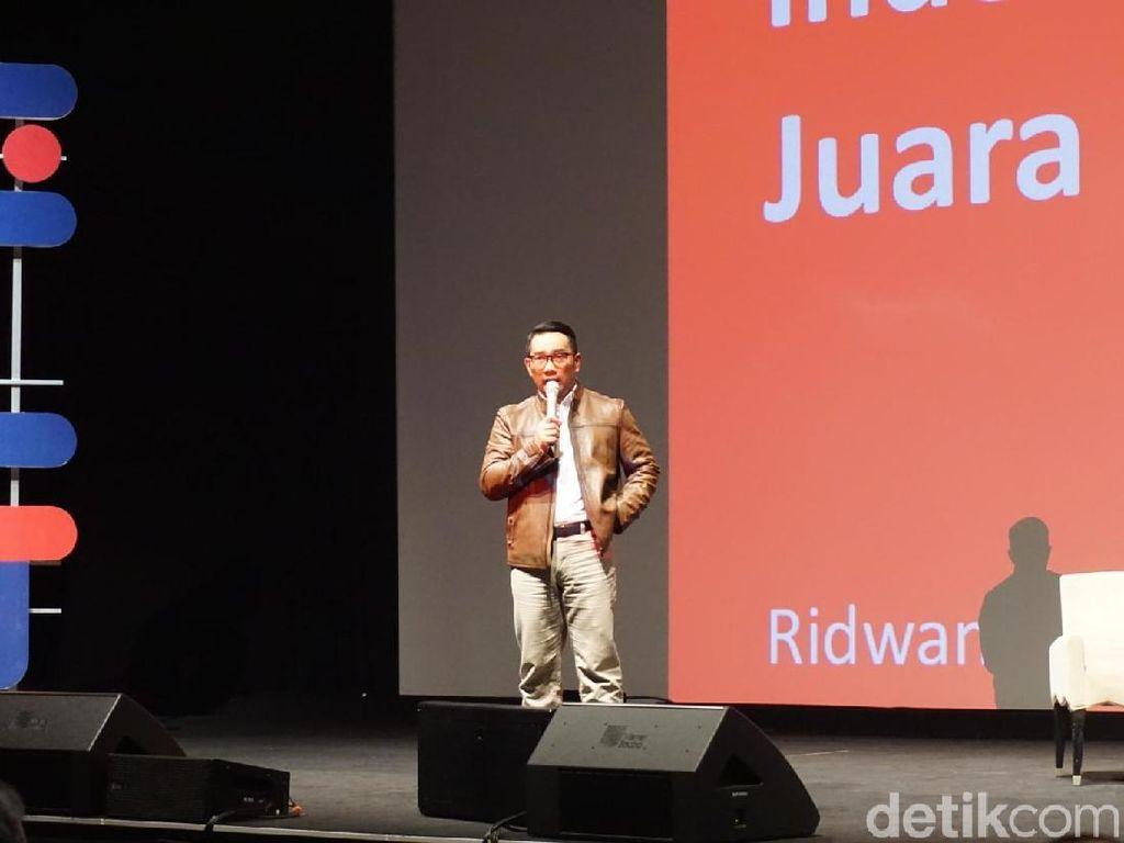 Ridwan Kamil Bicara Ekonomi, Cebong dan Kampret di Depan Milenial