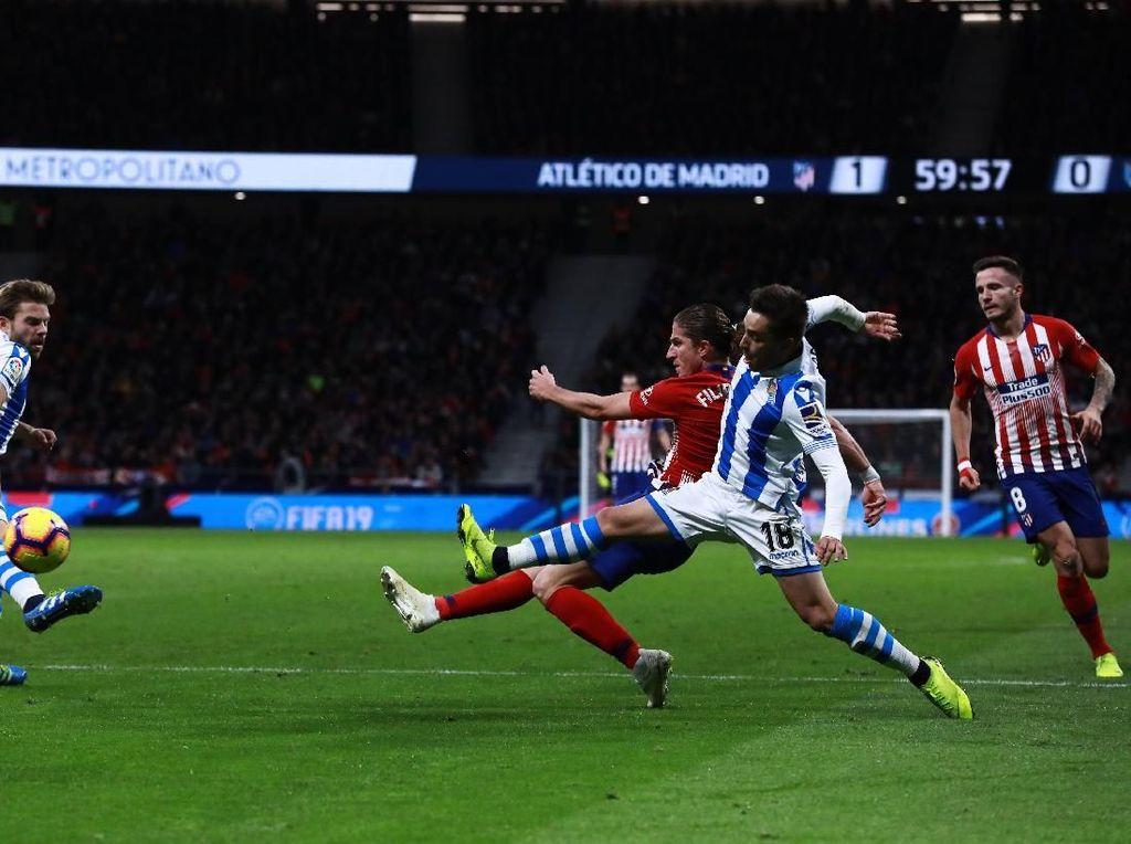 Hasil Liga Spanyol: Atasi Sociedad, Atletico Puncaki Klasemen