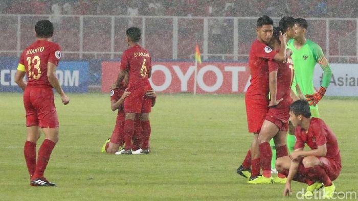 Timnas Indonesia U-19 terhenti di perempatfinal Piala Asia U-19 2018. (Foto: Ari Saputra/detikcom)
