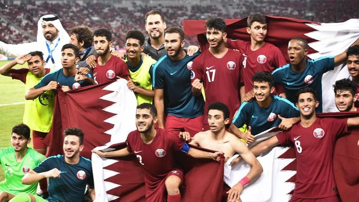 Timnas Qatar lolos ke Piala Dunia U-20 (Robertus Pudyanto/AFC)